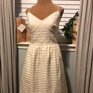 NWT J Crew Ivory Wedding Cocktail Dress Size 10